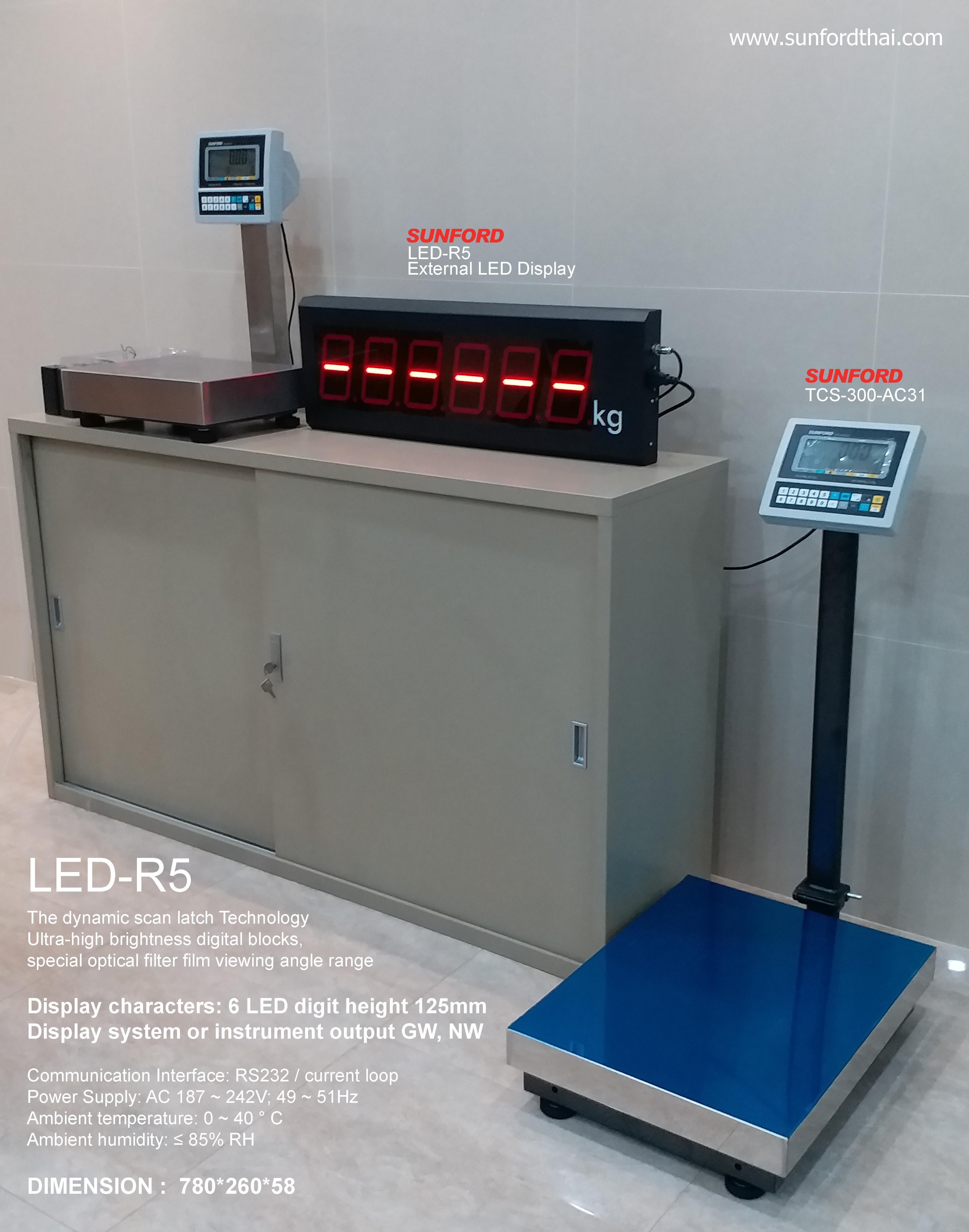 SUNFORD TCS-300AW31 พร้อมจอเสริม LED-R5